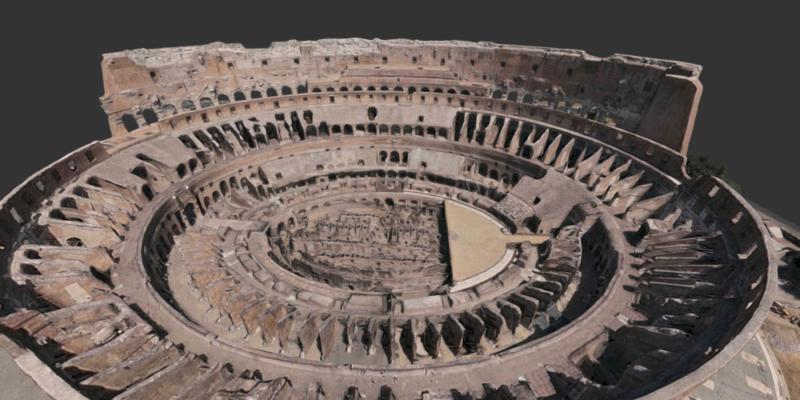 coliseo roma 3D patrimonio