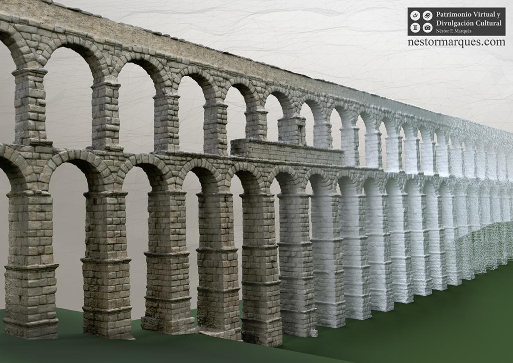 Acueducto de Segovia virtualizacion 3D