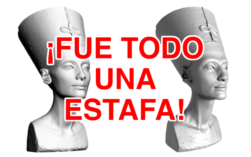 nefertiti estafa portada