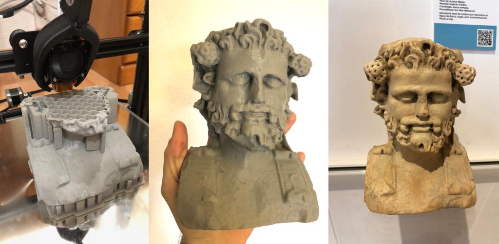 proceso de impresion 3D piezas Museu Manacor