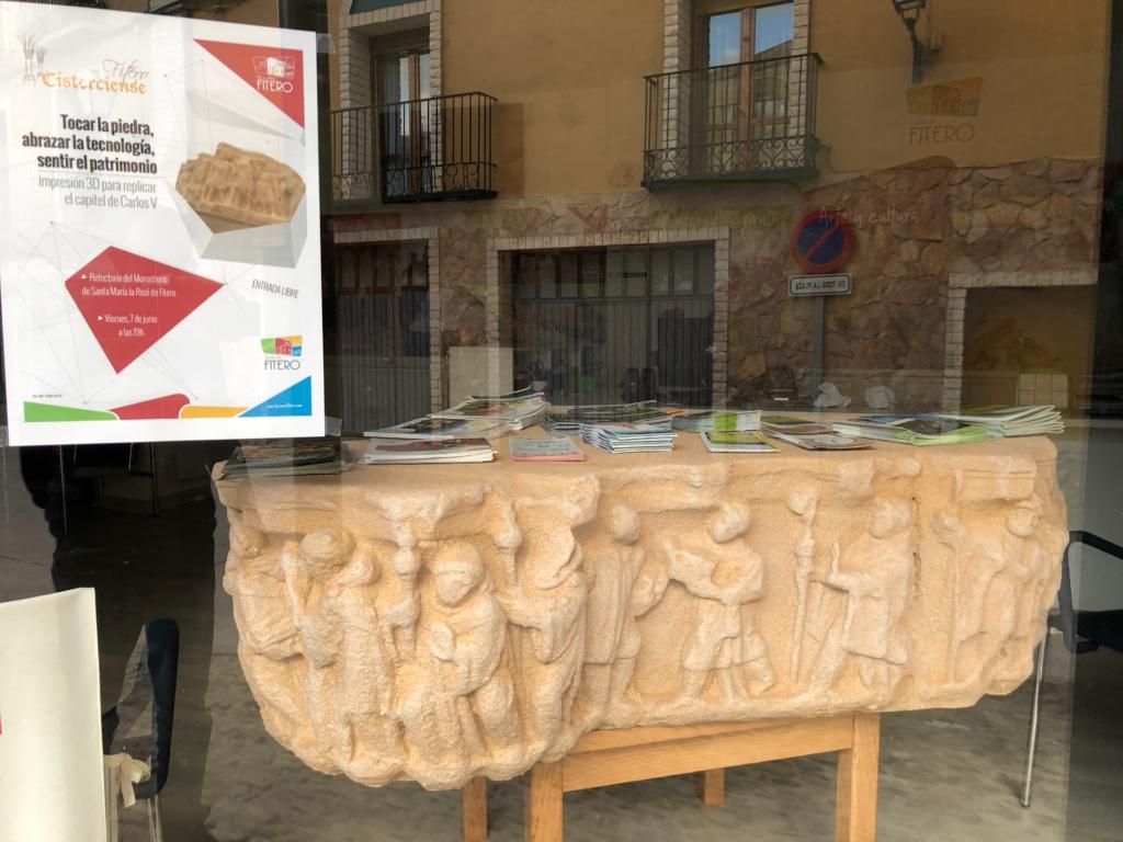 capitel fitero centro recepcion visitantes replica impresion 3D patrimonio