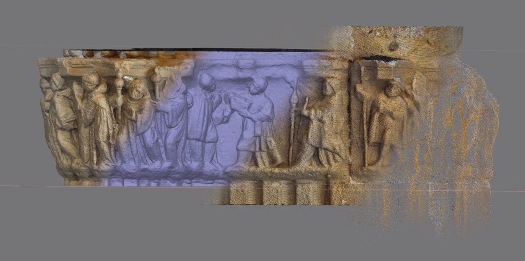 virtualizacion 3D capitel fitero impresion 3D patrimonio