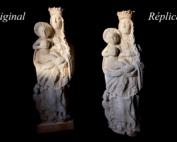 portada replica virgen acueducto 3D
