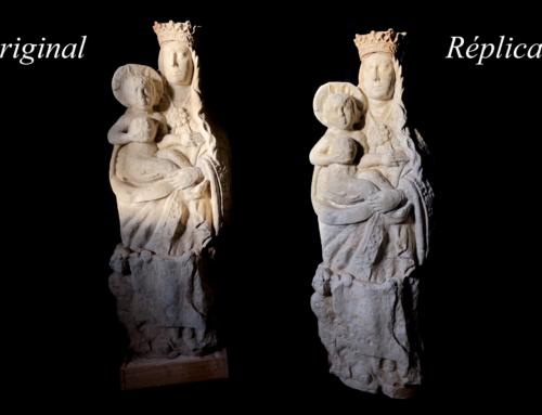 500 años a sus pies: la réplica 3D de la Virgen del acueducto de Segovia